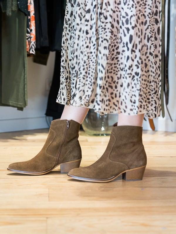 Jupe longue plissée léopard Pipelettes Talence bas