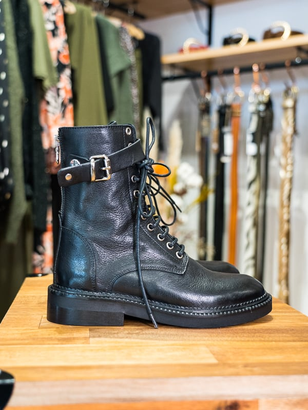 Boots montantes lacets smr cuir PIPELETTES TALENCE profil