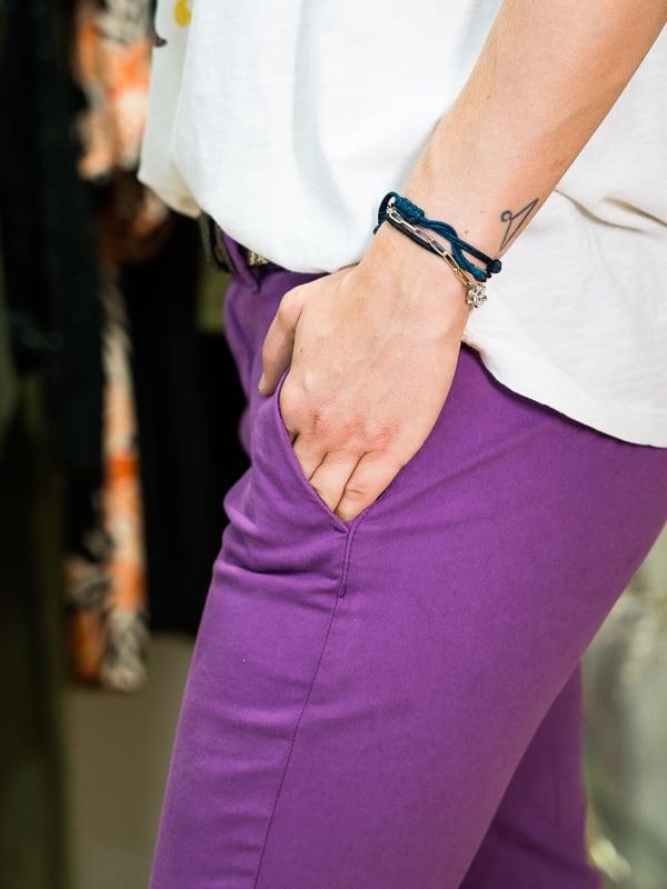 Chino JOY HAPPY violet zinzolin pipelettes talence poche