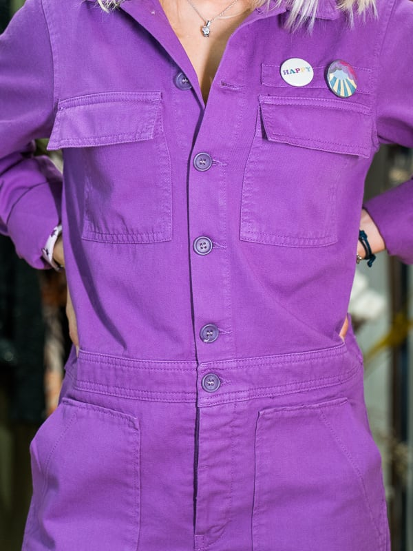 Combinaison pantalon DEMI HAPPY violet zinzolin Pipelettes Talence ZOOM2
