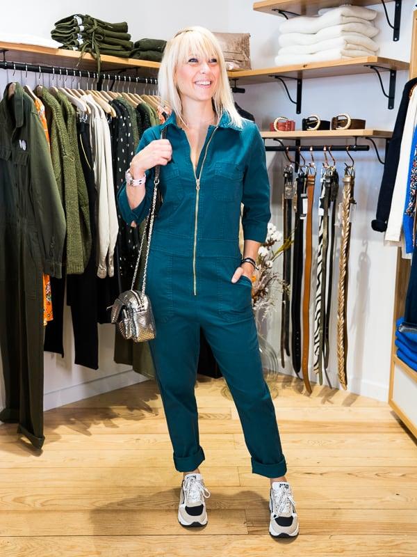Combinaison pantalon pakolitto vert jungle look