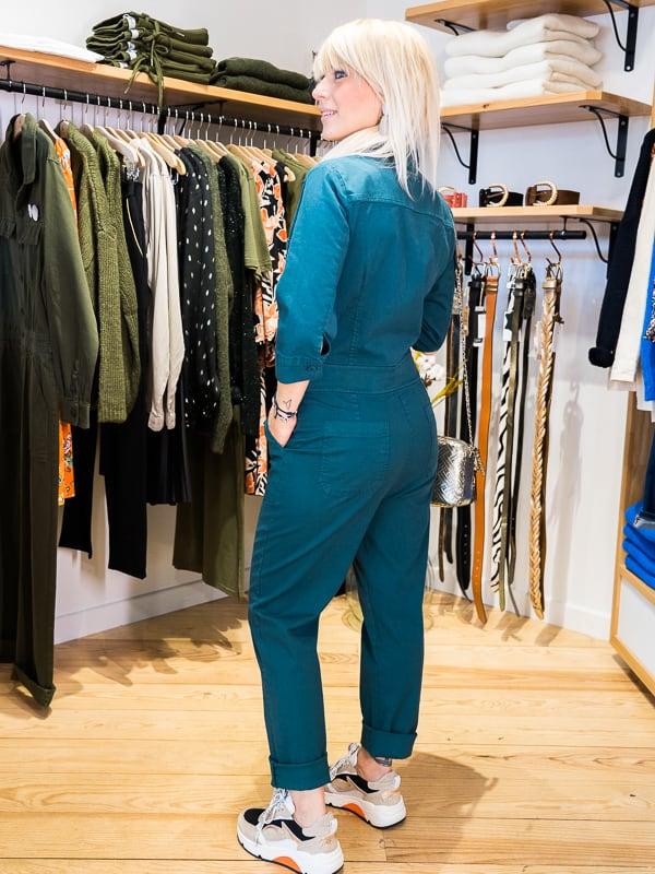 Combinaison pantalon pakolitto vert jungle dos