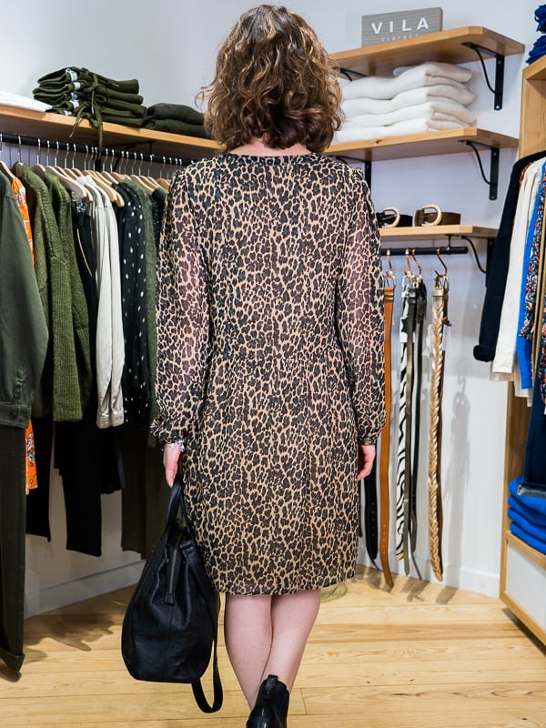 Robe fluide leopard les pipelettes talence dos