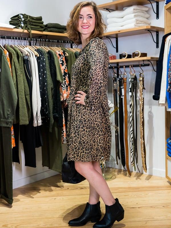 Robe fluide leopard les pipelettes talence profil