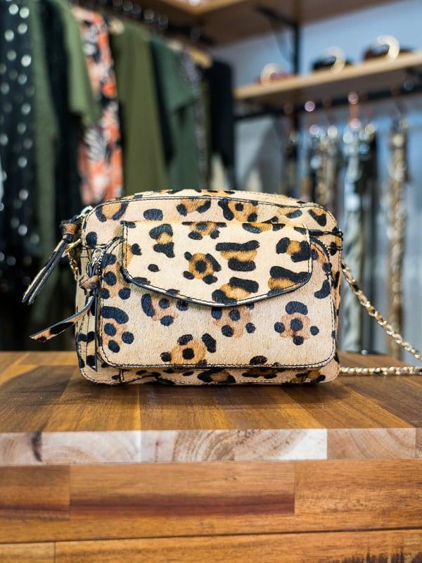 Sac PIECES cuir leopard les pipelettes talence zoom