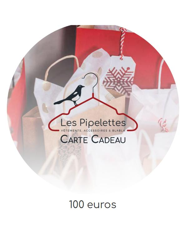 Visuel carte cadeau pipelettes talence 100euros