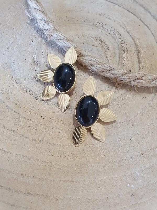 Boucles d oreilles fleurs acier les pipelettes recto