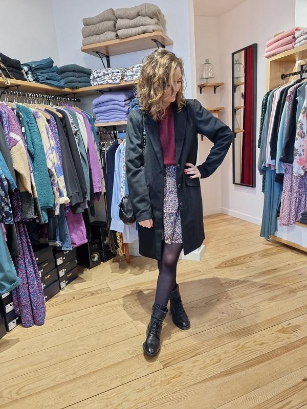 Manteau noir 14056450 VILEOVITA lespipelettes talence look2