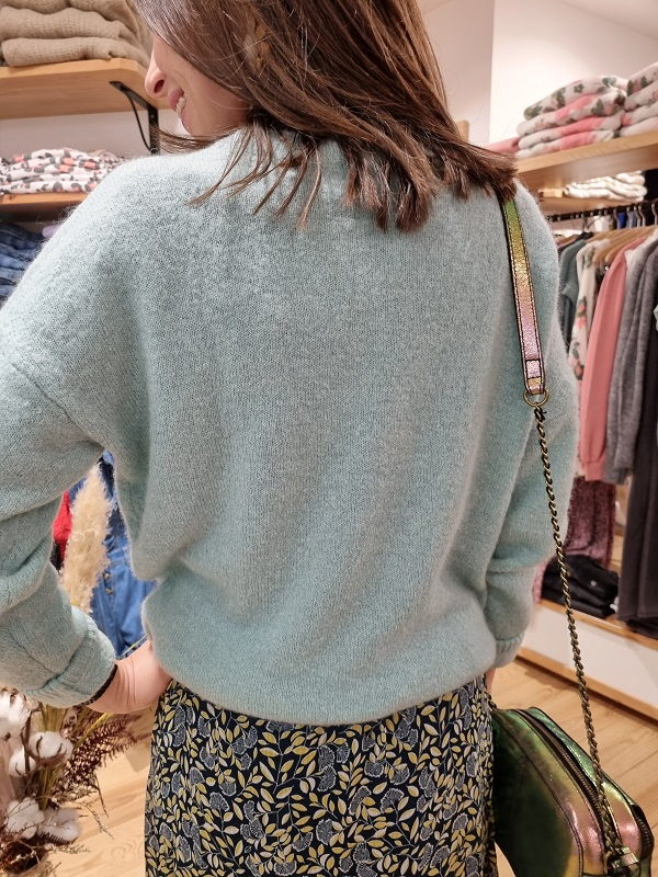 Pull mohair msch blue surf lespipelettes dos