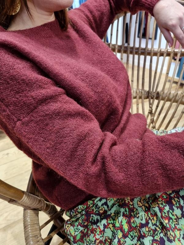 Pul col rond mohaire msch bordeaux zinfandel lespipelettes zoom2
