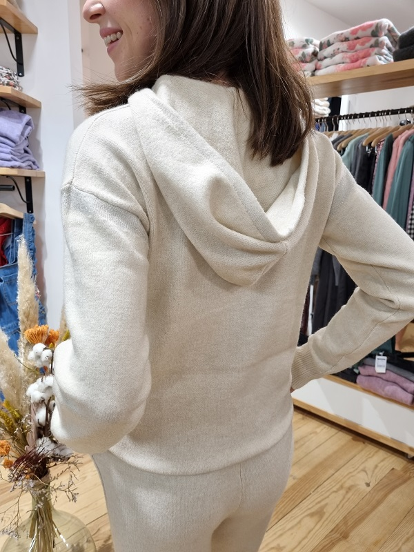 Pull cestbeaulavie 58CB2PU700 beige lespipelettes talence dos